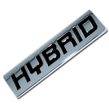 CHROME/BLACK METAL HYBRID ENGINE RACE MOTOR SWAP EMBLEM BADGE TRUNK HOOD DOOR