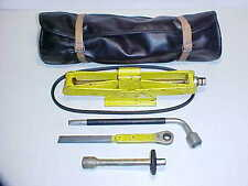 Ferrari 308 Jack Kit_Roll Bag_Lug Wrench_Ratchet_Extension_Tools_Fan Belt OEM