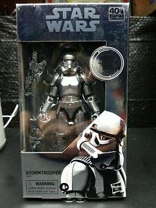 "Star Wars black series Carbonized Stormtrooper action figure 6"" CASE FRESH"