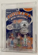 2000 Rocket USA Futurama Metal Figure 4-Pack Fry/ Leela/ Bender/ GRADED 80NM
