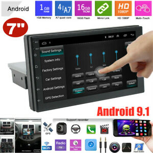 "7"" 1DIN Android 9.1 Bluetooth Car Radio Stereo GPS Navi MP5 Player WiFi 1G+16G"