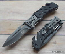 MASTER USA TACTICAL RESCUE SPRING ASSISTED KNIFE WITH POCKET CLIP - 8 INCH