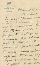 Asilo Materno Provinciale di Milano Epoca Fascista 1930 Lettera del Direttore