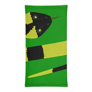 Neck Gaiter - Green Snake