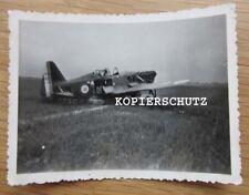 Altes Foto alliertes Jagdflugzeug / Flugzeug 2. WK