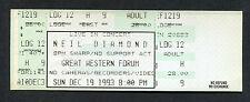 Original 1993 Neil Diamond unused full concert ticket Los Angeles Forum