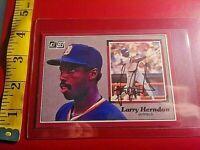 1983 Donruss Oversize Larry Herndon Signed Autograph Detroit Tigers World Champs