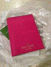 KATE SPADE Mikas Pond Passport Holder Cover NWD Hot Sweetheart Pink RARE