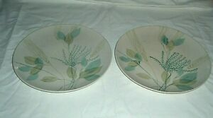 """2 True China RED WING MERRILEAF DINNER PLATE 50s-60s Hand Painted 10 1/4"""""""