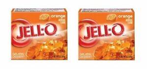 Jell-O Orange Gelatin Dessert Mix 2 Box Pack