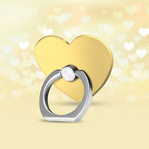 iFab Finger Ring Stand Holder 360 Kickstand For iPhone Samsung LG GOLD HEART