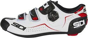 SIDI ALBA ROAD MAN SHOES BLACK/WHITE/RED Size 41 US 7.5