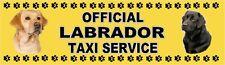 LABRADOR RETRIEVER OFFICIAL TAXI SERVICE Dog Car Sticker No. 1. By Starprint
