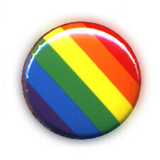 Badge RAINBOW COLORS techno electro love peace gay lesbian pride LGBT pop Ø25mm
