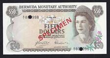Bermuda 50 Dollars 1978 P-32 Specimen aUnc