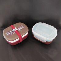 2 boites à déjeuner bento box japonaises LBVYR vintage art déco design PN France