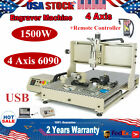 1.5KW USB 4 Axis 6090 CNC Router Engraving Cutter Mill Machine + Controller RC