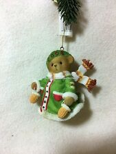 Cherished Teddies Ornament 2008 Dated Bear With Mittens  NIB  SIGNED