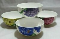 Roscher Bone China Floral Collection Soup Cereal Bowls Set of Four New