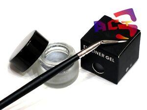 Long Lasting Waterproof Silver Gel Eyeliner & Eye Liner Angle Brush