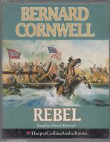 Bernard Cornwell Rebel 2 Cassette Audio Book Civil War Drama Nathaniel Starbuck