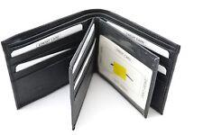 Men's Bi-fold Wallet Genuine Leather Credit Card Slots ID Holder Purse Money Zip
