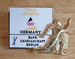 1996 Germany Team Olympia Atlanta Olympic Pin Bank Gesellschaft Berlin Track