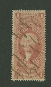1862 United States Passage Ticket Revenue Stamp #R74c Used Pen Cancel Certified