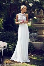 Custom Made Backless Bridal gowns wedding Gowns white Flower wedding Dress