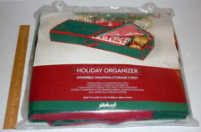 NEW! RICHARDS Christmas/Holiday Organizer Underbed Wrapping Supply Storage Chest
