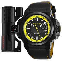 Snyper Men's Two Black Carbon Fiber Leather Strap Automatic Watch 20.260.00