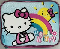 Brand New Hello Kitty Insulated Lunch Box Pink Thermos Rainbow Zipper Food Bag