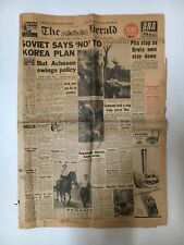 THE HERALD NEWSPAPER FROM NOVEMBER 25TH 1952 WHOLE PAPER, 16 PAGES