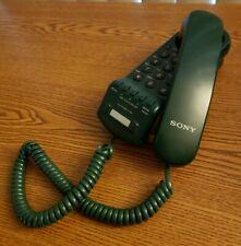 SONY VINTAGE HUNTER GREEN IT-B5 CORDED TELEPHONE WALL MOUNT DESKTOP PUSH BUTTON