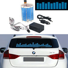 45x11cm Sound Music Activated Car Sticker Blue LED Flash Light Equalizer Lamp