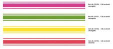 Aufkleber Rallye- Streifen 400  x 5,6 cm, neon-gelb