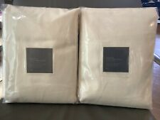 New TWO Restoration Hardware Belgian Textured Linen Drapes Curtains $758 Natural