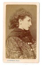 cdv ,Sarah Bernhardt,opéra,comedienne,actrice,Oscar Wilde ,courtisane, Hugo