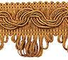 ab 5,0 m Luxus Posamentenborte 35mm Gold-Bronze Beige (1,18 €/m) Spitze Bordüre