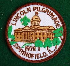 VINTAGE BOY SCOUT - 1978 LINCOLN PILGRIMAGE PATCH - SPRINGFIELD