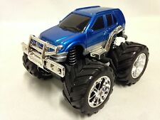 "Monster 4 X 4 Car 5"" w/ Super Friction Power, Individual Suspension Toy SUV Blue"