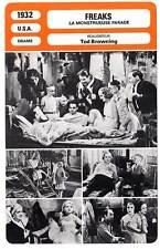 FICHE CINEMA : FREAKS - Tod Browning 1932 La Monstrueuse Parade