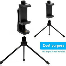 Phone Tripod Mount Adapter Smartphone Holder Mount Clip For iPhone Android etc.