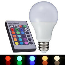 5W E27 Colors Changing RGB LED Light Bulb +IR Remote Control Party Decor#1