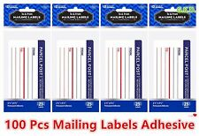 """100 Pcs Shipping Mailing Label Pad To & From Adhesive 2.5"""" x 4.5""""  FREE SHIPPING"""