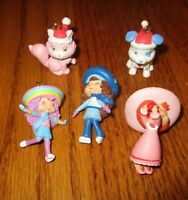 Strawberry Shortcake lot 5 mini miniature Christmas tree ornament 2005 dog cat