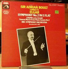 HMV Treasury Boult BBC SO Elgar Symphony 2 Chopin 78's ASD ALP 33CX SXL DG EMI