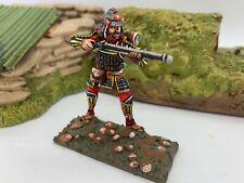 St. Petersburg Japanese Samurai w/ gun, foot brown Soldier 54mm 1/32  Russia