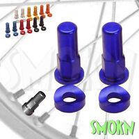 RFX Front & Rear Rim Lock Nuts & Curved Washers Sherco SE-R SEF-R 250 300 Blue