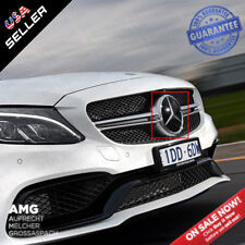 Mercedes Base Plate Front Grill Emblem W205 Modified Upgrade AMG Crystal Style
